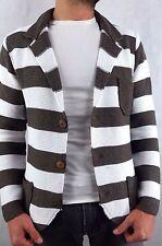 Giacca uomo cotone maglieria cardigan casual made in italy slim fit giubbino