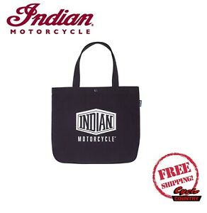 INDIAN MOTORCYCLE SHIELD LOGO TOTE BAG BLACK ONE SIZE