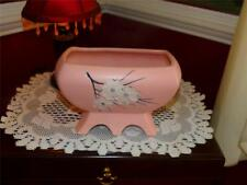 McCoy RARE 6 FOOTED ORIENTAL PLANTER PINK HAND PAINTED 1950'S