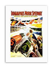 RACE Indianapolis MOTOR SPEEDWAY Auto Bandiera INDY 500 SPORT STAMPE SU TELA ART