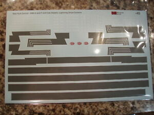 New York Central NYC Cab Diesel Decals 1945-60 EMD E&F Lightning Stripe S-scale