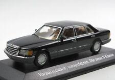 Mercedes 560 SEL W126 black 1989 1:43 Minichamps