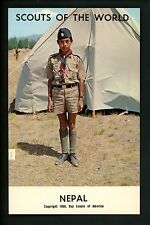 Scouting postcard chrome Boy Scouts of the World 1968 Series Nepal