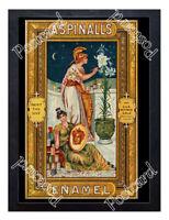 Historic Aspinall's Enamel, London, c.1891 Advertising Postcard
