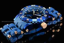 Invicta Men's 50mm Sea Spider Automatic NH35A Triple Blue and Rose Gold SS Watch