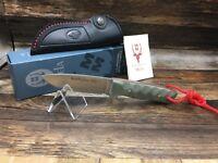 "Muela Kodiak 8 1/2"" Grey Micarta Fixed Blade Knife Mint In Box Very Nice 10SV.M"