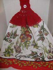 """Crochet Kitchen Towel ~ """"Italian"""" ~ **Gift Idea"""