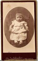 CDV Foto Niedliches kleines Kind - Linz a. Rhein 1880er
