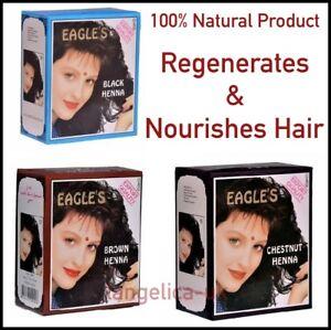 Eagle's Henna Color Hair Dye Henna Hair - Promotes hair Growth 6 packs of 10 g