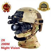 Waterproof Infrared IR HD 2X Monocular Night Vision Helmet Telescope Hunting Kit
