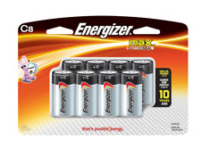 Energizer Max + Power Seal C Alkaline Batteries - 2 Packages of 8 Batteries