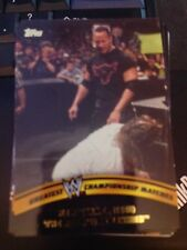 2014 Topps WWE Greatest Championship Matches #4 The Rock Vs Mankind Raw