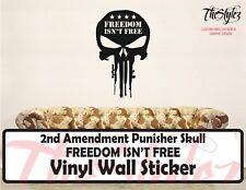 2nd Amendment Punisher Skull - Freedom Isn't Free Vinyl Wall Sticker