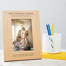Personalised Family Photo Frame 6x4 7x5 8x6 large wooden my our family home gift