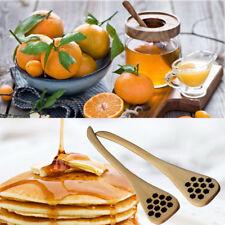 1pcs Bionic Natural Wood Honey Dipper Server Mixing Coffee Stick Spoon Healthy