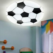 LED Wandleuchte Jungen Kinderzimmer Beleuchtung FUßBALL Deckenlampe Schwarz Weiß