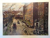 The Noon Whistle Lithograph By John Falter 1890s Silk Mill - 1975 3M Company