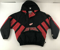 Detroit Red Wings NHL Vintage Starter Hooded Pullover Jacket Men's XL 90s