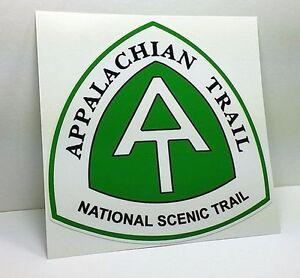 APPALACHIAN TRAIL Travel DECAL / Vinyl Sticker, Hiking, Luggage Label, 4 inch
