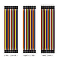 Per Nuovo Femmina a Femmina 30CM 2.54MM Filo Ribbon Jumper Cables Cavo Dupont