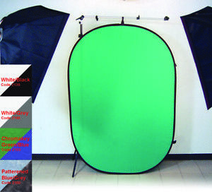 Promaster Vlogers 6X7 POP-UP Background Chromakey Green & Blue #2153