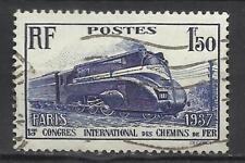 5289-FRANCIA SELLO ANTIGUO 1936 TRENES FERROCARRIL RAIL WAY Nº317 VALOR 10,00€