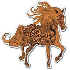 Horse Art Orange Vinyl Sticker - SELECT SIZE