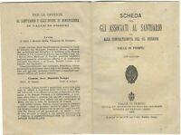 Libro Scheda per gli Associati al Santuario e Confraternita del SS. Rosario Vall