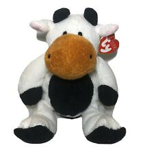 Ty Pluffies Grazer Cow Black White Tylux With Tag