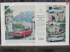 VINTAGE 1963 1/2 FORD GALAXIE HARDTOP FALCON SPRINT MONTE CARLO AUTO AD PRINT