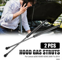 2x Front Hood Lift Supports Gas Struts Shock For Lexus 05-13 IS250 IS300
