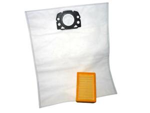 5- 30 Vlies-Beutel +/- Filter geeignet für Kärcher MV 4/5/6, WD 4/5/6 p Prem.
