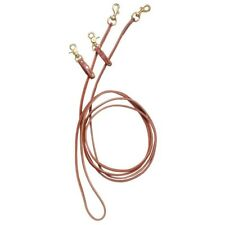 Tough-1 Royal King Leather Pulley Draw Reins Attaches to Girth and Bit