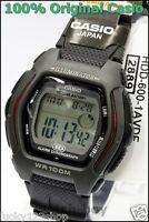HDD-600-1A Schwarzes 10-Jahres-Akku Casio Herrenuhr Dual Time 100m Digital Daily