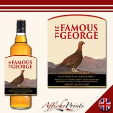 L111 Personalised Grouse Scotch Whisky Bourbon Scotland Custom Bottle Label