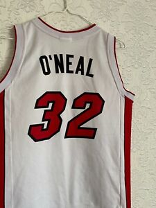 NBA Miami Heat Shaquille O'Neal #32 shirt Champion Jersey Vintage XL 13-14 years