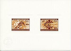 GUINEE 1983 Jeux Olympiques SARAJEVO 1984 épreuve atelier color proof 971+972