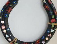 Hanpainted/crafted Recycled Lucky Horseshoe
