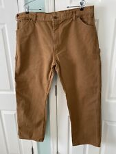 Dickies Workwear Outdoor Distressed Carpenter Brown Pants Jeans Men's Size 42X30