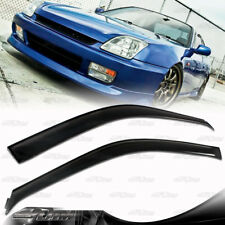 For 97-01 Honda Prelude JDM ABS Side Door Window Visor Shield Guard Sun Shade