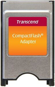 Transcend TS0MCF2PC PCMCIA ATA Adapter for CompactFlash Card - Silver/Black