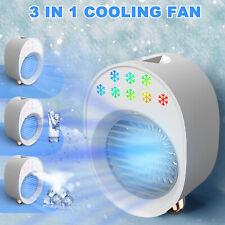 Portable Mini Air Conditioner Desktop Fan Space Cooler Humidifier Purifier Usb