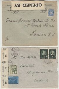 NORWAY 1941/45 2x censor covers to ENGLAND with BRITISH & NORWEGIAN censor tapes