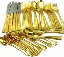 Ep Ss Japan Shell Gold Electroplate 48pc Service for 8 Silverware Flatware Set