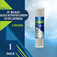 """Big Blue CTO Carbon Block Water Filters 4.5"""" x 20"""" Whole House Cartridges"""