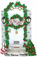 Personalized OUR NEW HOME GREEN Christmas Hanging Tree Ornament HOLIDAY 2020