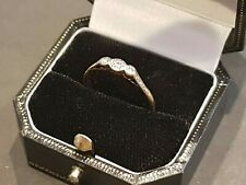 18ct Gold Engagement Ring set with Three Diamonds. Size P 1/2. 2.25 Grams. (24)