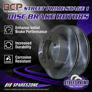 Pair Front BCP Vented Disc Brake Rotors for Ferrari F40 1988-1992