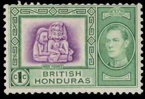 "BRITISH HONDURAS 115 (SG150) - KGVI ""Mayan Figures"" (pa74092)"