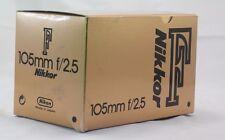 Empty Box for Nikon  105mm f2.5 Nikkor F  lens